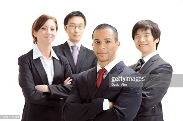Multiethnische business-team