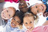 Multiethnic children in a circle