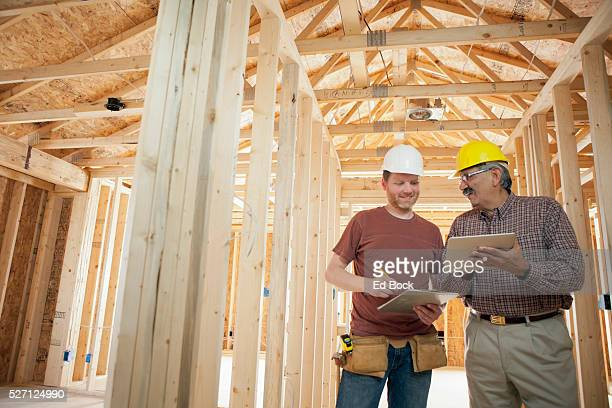 Multi-ethnic construction workers on a construction site