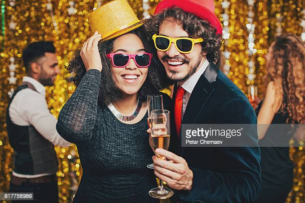 Multi-ethnic couple on formal party