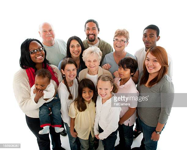 multiethnic diverse generation group of people - global village stock pictures, royalty-free photos & images