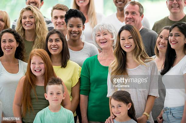 multi-ethnic family group - traditionally canadian stock pictures, royalty-free photos & images