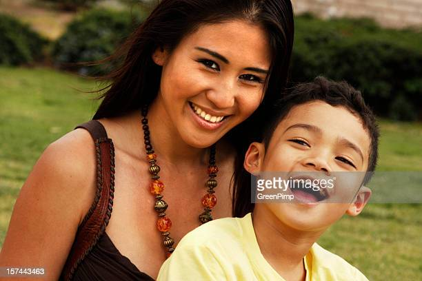 multiethnic family - pacific islander stock pictures, royalty-free photos & images