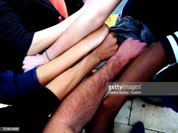 Multi-Ethnic Friends Showing Hands
