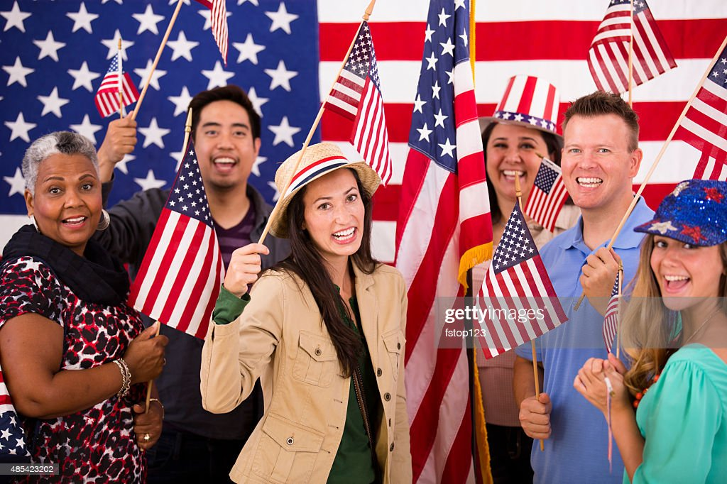 american usa political ethnic rally multi flags voting multiethnic getty gettyimages
