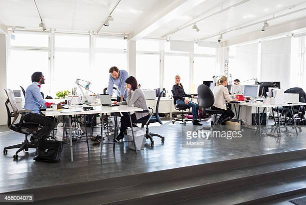 Multi-ethnic group of business people working in office