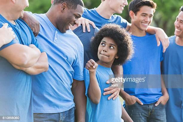 Multi-ethnischen eine Gruppe von Väter und Söhne