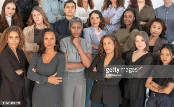 a multi-ethnic group of strong women - black history stock photos and pictures