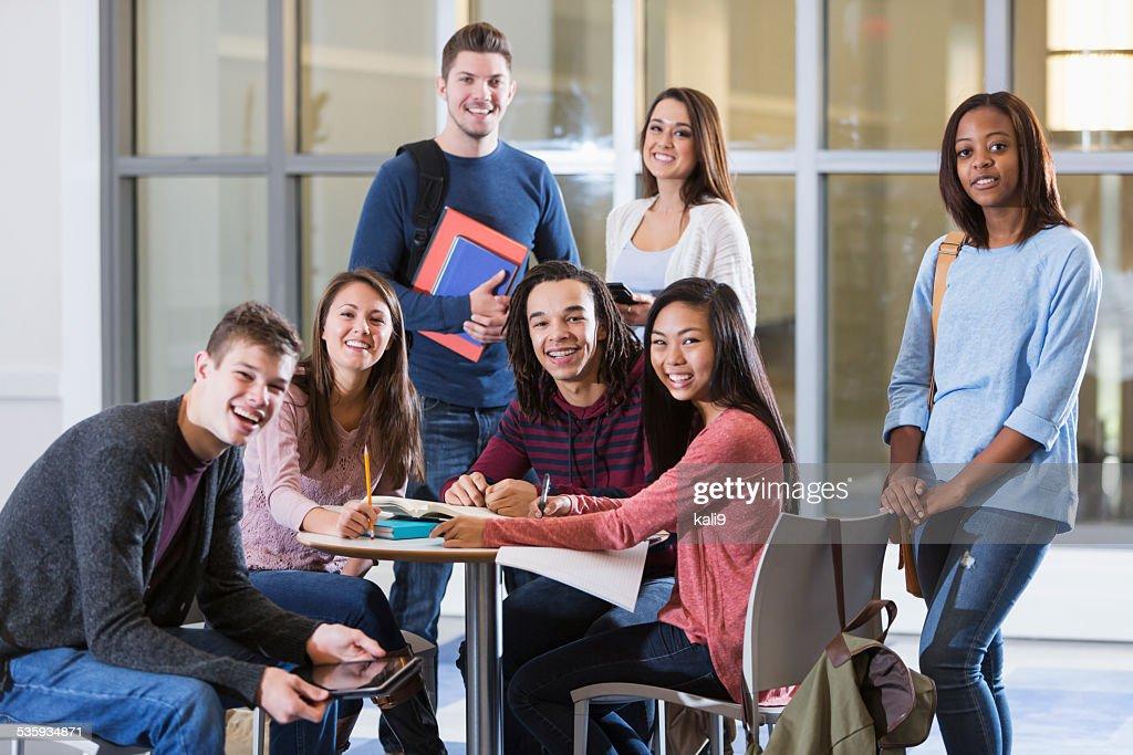 Multi-ethnic group of students : Stock Photo