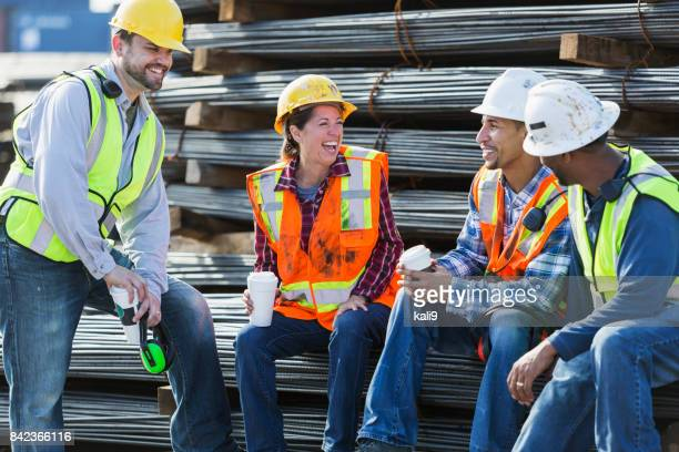 Multi-ethnic group of workers taking coffee break
