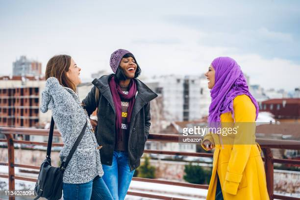 multi-ethnic young women - respect stock pictures, royalty-free photos & images