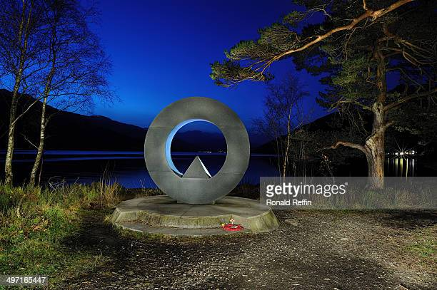 Multi-exposure night shot of the Rowardennan War Memorial, situated on the shores of Loch Lomond, Scotland.