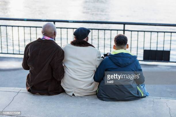 multi-generation african-american family - generation gap stock photos and pictures