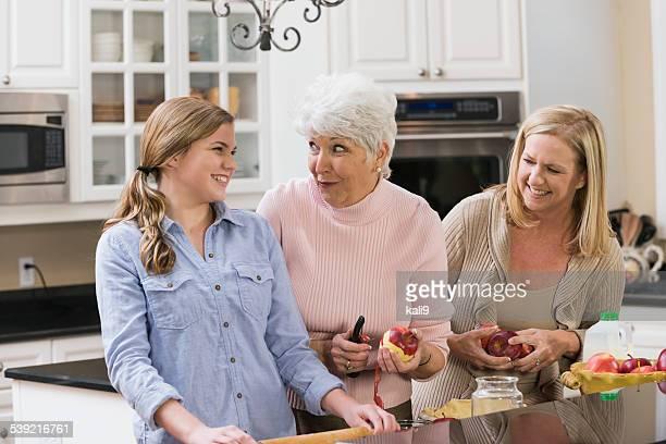 Multi-generation family baking