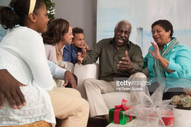 Multi-generation family celebrating Christmas