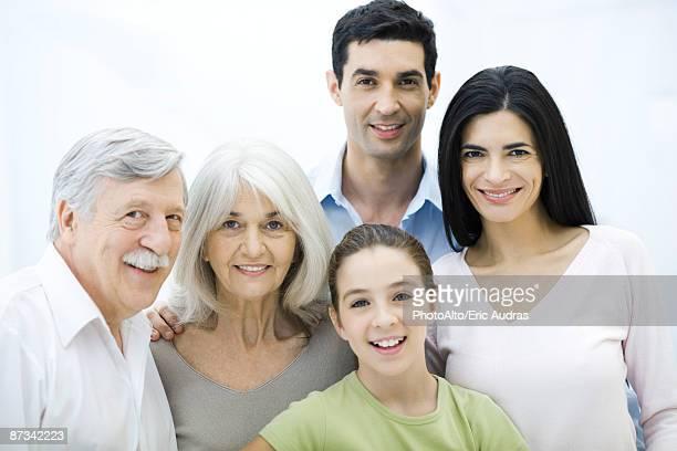 Multi-Generationen-Familie Gruppe, Porträt