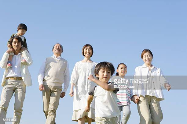 multi-generation family - japanese girls hot stock photos and pictures