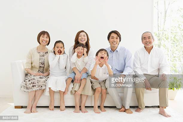 Multi-generation family, portrait