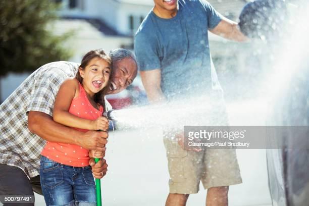 Multi-generation family washing car