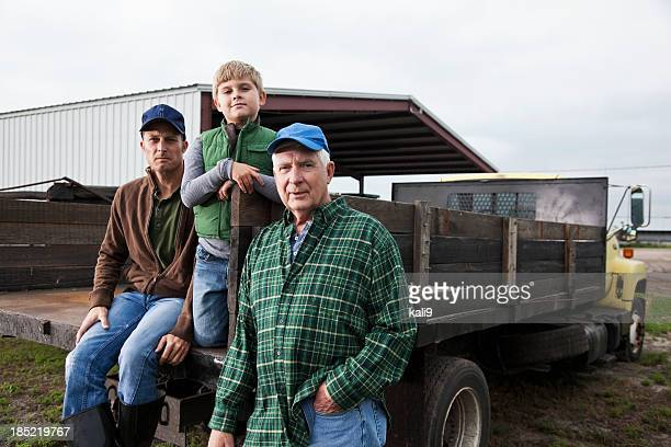 multi-generation family working on the farm - farm stock pictures, royalty-free photos & images