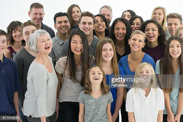 Multi-Generational Family Standing Together