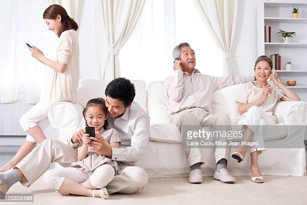 Multi-Generational Family Using Phones