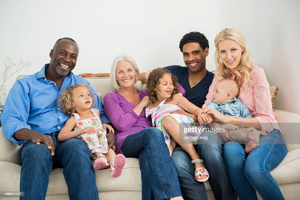 Multi-Generations Family Portrait : Stock Photo