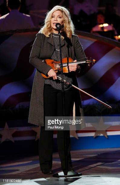MultiGrammy Awardwinning bluegrass icon Alison Krauss performs at the 2019 National Memorial Day Concert at US Capitol West Lawn on May 26 2019 in...