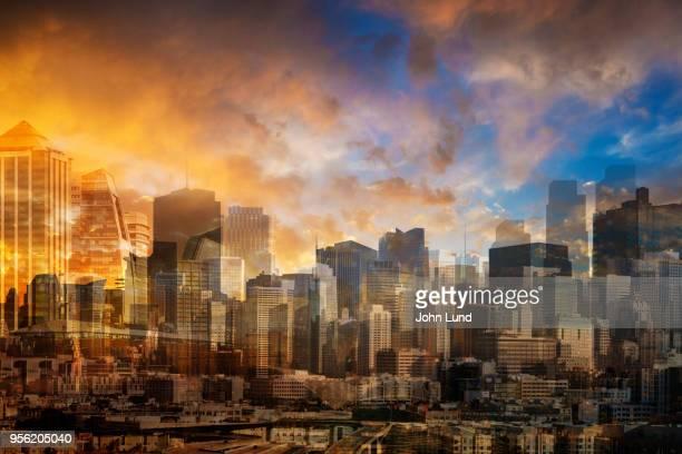 Multi-layered Futuristic City