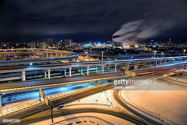 Multilevel highways in Moscow