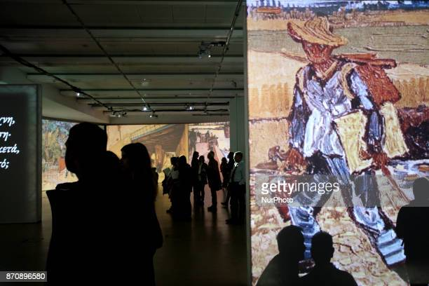 Multimedia art exhibition entitled Van Gogh Alive featuring the work of the Dutch painter Vincent Van Gogh at Megaron Hall in Athens, Greece,...