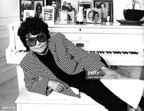 Multimedia artist Yoko Ono 1985 Photo by Jack Mitchell/Getty Images