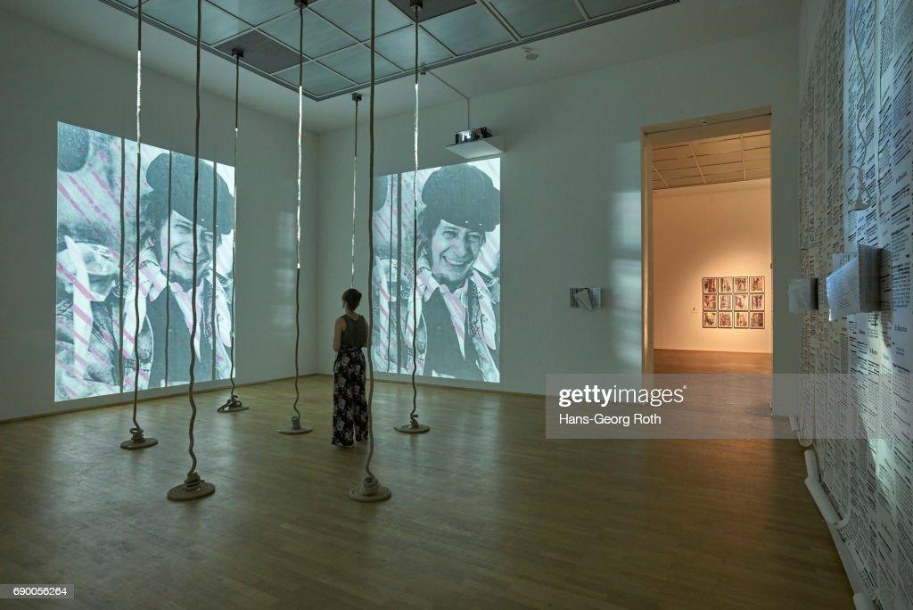'Carolee Schneemann. Kinetische Malerei' Exhibition Preview In Frankfurt Am Main : News Photo