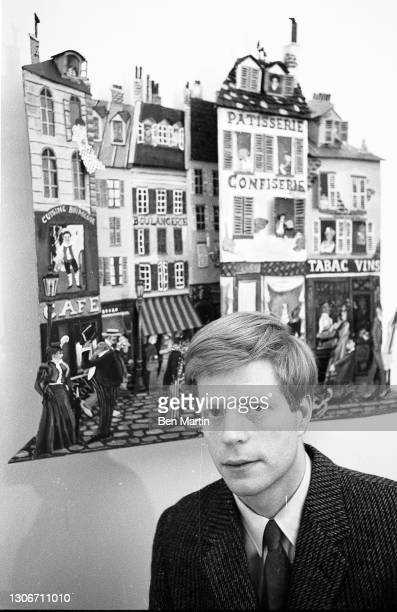 Multimedia Pop-artist Red Grooms photographed in City Gallery in Grooms' second-floor loft in the Flatiron District, New York, March 1965.