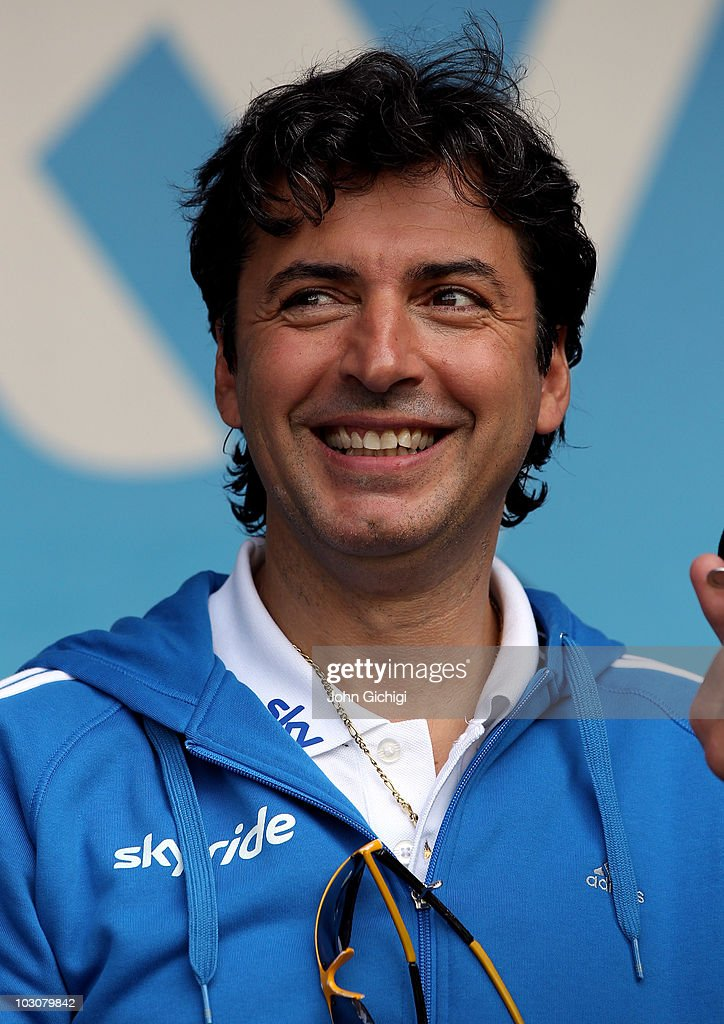 Multi-Michelin starred chef Jean-Christophe Novelli is interviewed during the Sky Ride Southampton, a free, fun. family oriented traffic-free mass participation cycling event held on July 25, 2010 in Southampton, England.