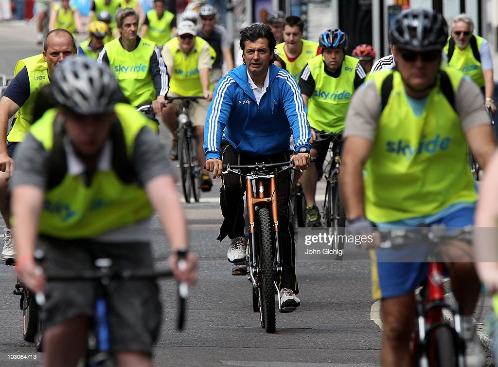 Multi-Michelin starred chef Jean-Christophe Novelli joins thousands of participants at Sky Ride Southampton, a free, fun. family oriented traffic-free mass participation cycling event held on July 25, 2010 in Southampton, England.