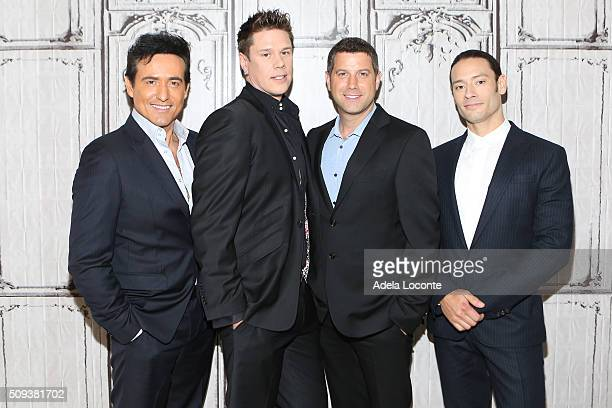 """Multinational classical group Il Divo attend """"Amor & Pasion"""" at AOL Studios In New York on February 10, 2016 in New York City."""