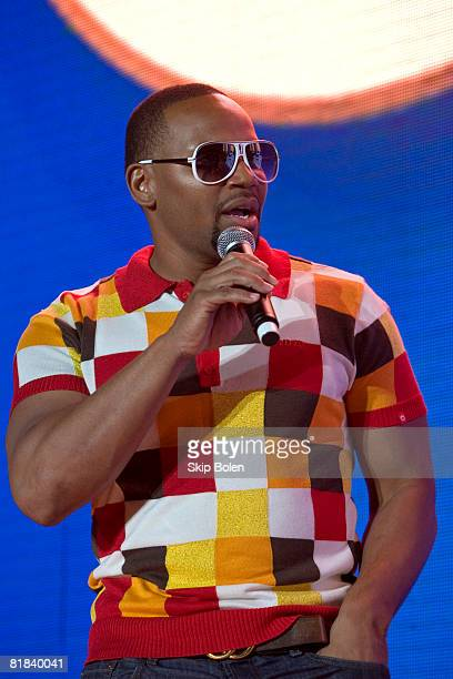 Multiplatinum American RB singer Avant performs at the 2008 Essence Music Festival on July 6 2008 in New Orleans