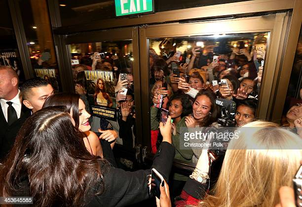 Multiplatinum artist Lana Del Rey premieres Tropico at Cinerama Dome at ArcLight Cinemas on December 4 2013 in Hollywood California