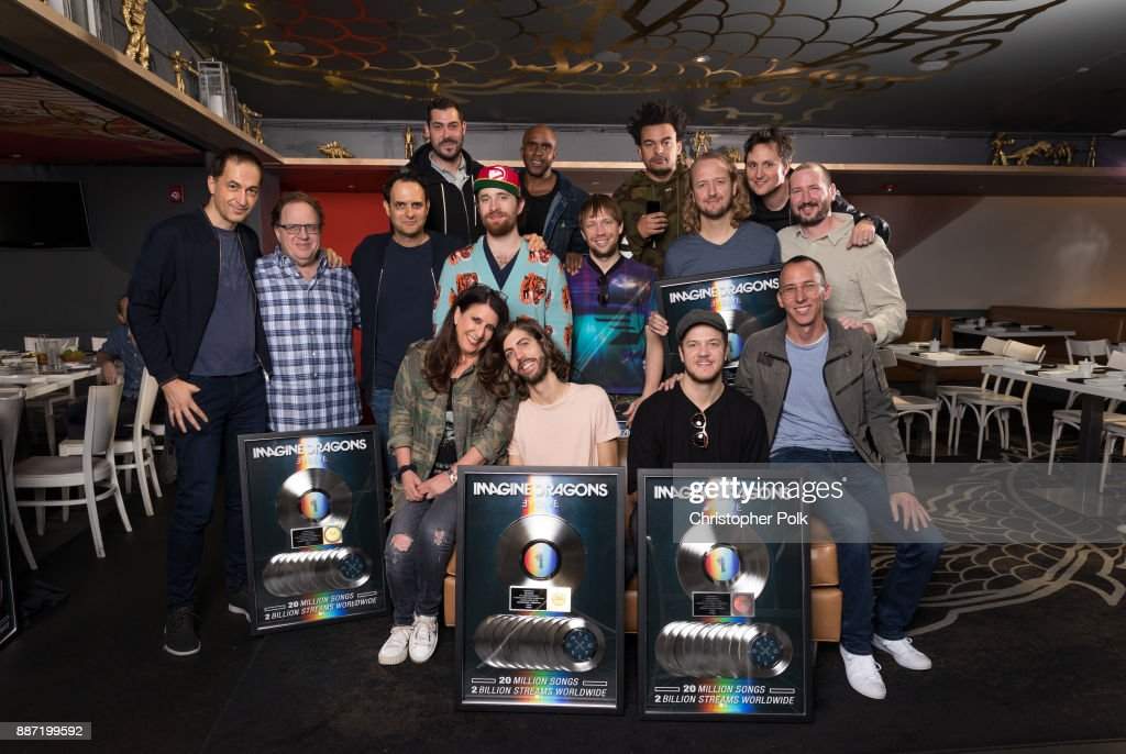 Imagine Dragons Plaque Presentation : News Photo
