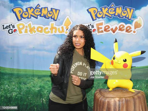 Multiplatinum recording artist actress and selfproclaimed Pokémon fan Jordin Sparks celebrated the Pokémon Let's Go Pikachu and Pokémon Let's Go...