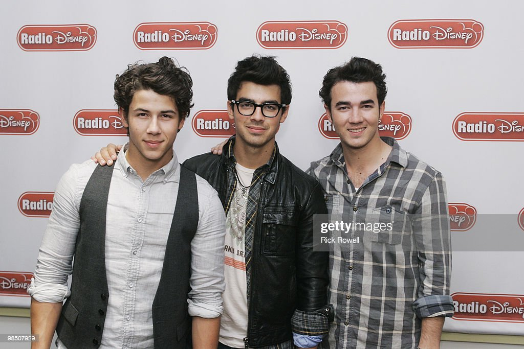 OVER - Multiplatinum recording artists and TV stars the Jonas Brothers heat up the Radio Disney airwaves joining Ernie D in studio to discuss the season premiere of 'JONAS,' the highly anticipated 'Camp Rock 2 The Final Jam' and the TJ Martell Foundation Family Day fundraising event. (Photo by Rick Rowell/Disney Channel via Getty Images) NICK