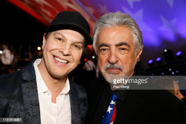 Multiplatinum selling singer performer and songwriter Gavin DeGraw and Tony Awardwinner Joe Mantegna onstage during the show finale at the 2019...