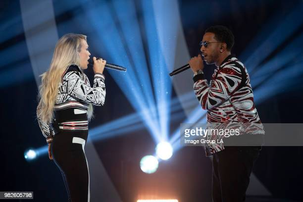 AWARDS Multiplatinum superstars Carrie Underwood and Ludacris performed their hit song 'The Champion' live for the first time at the 2018 Radio...