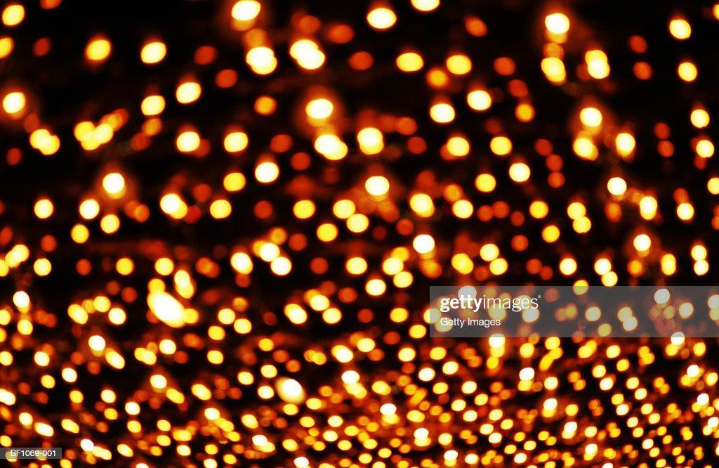 Multiple amber lights (defocussed) : Stock Photo