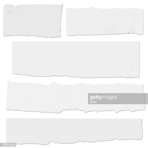 multiple blank paper tears on white w/drop shadow - part of stock pictures, royalty-free photos & images