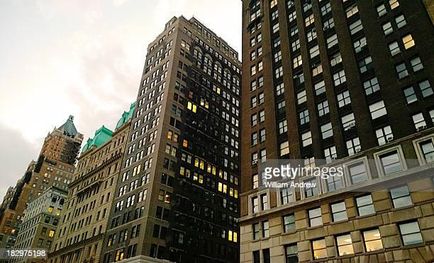 Multiple buildings in downtown Brooklyn