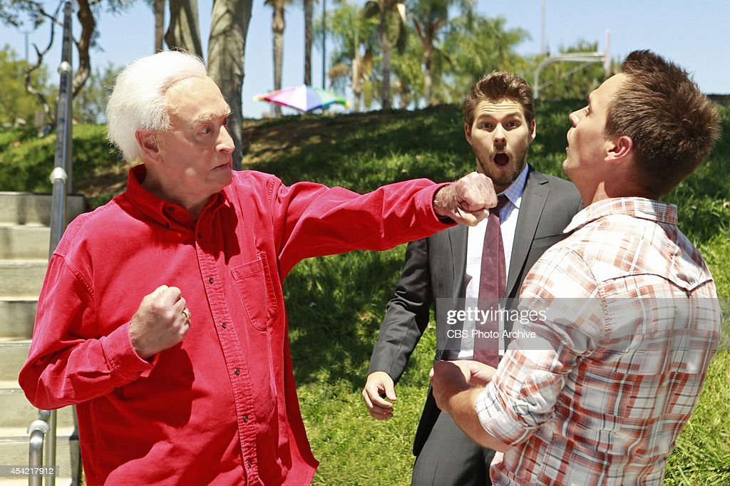 Multiple Emmy Award-winning television legend and animal rights activist Bob Barker will return to CBS Daytime's THE BOLD AND THE BEAUTIFUL in a guest starring role Thursday, August 28 (1:30-2:00 PM, ET; 12:30-1:00 PM, PT), on the CBS Television Network. This will mark Barker's third appearance on the show. His first was in March 2002. Pictured L-R: Bob Barker as Himself, Scott Clifton as Liam Cooper, and Darin Brooks as Wyatt Spencer