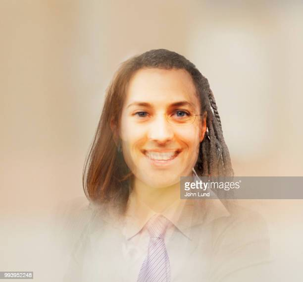 multiple exposure changing demographic portrait - demography stock pictures, royalty-free photos & images