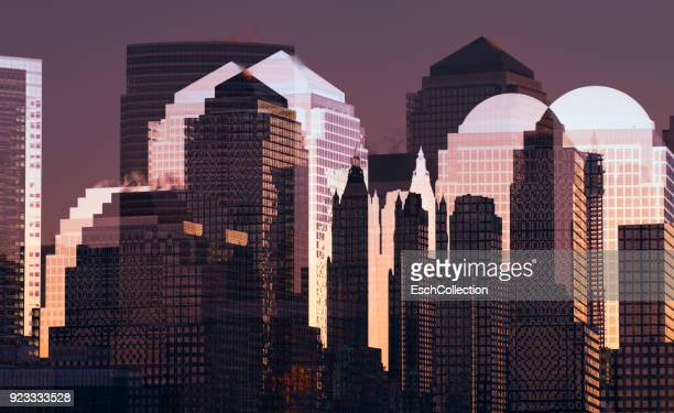 Multiple exposure image of Manhattan skyline
